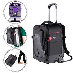 Neewer 2-in-1 Rolling Camera Backpack Trolley Case-Anti-Shoc