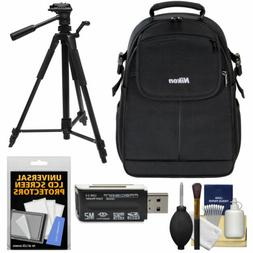 Nikon 17006 Compact DSLR Camera Backpack Case Bag with Tripo