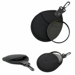 2-Pouch Camera Bag Lens Filter Case Pouch With Hook CPL MC U