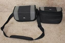 2 JVC storage camera bag strap compartment video lens case c