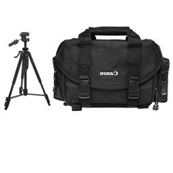 Canon 2400 Digital SLR Camera Case Gadget Bag + Tripod Kit f