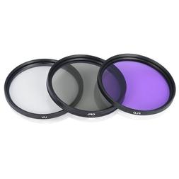 3pcs Filter Lens 49mm 52mm 55mm 58mm 67mm 72mm 77mm Polarize