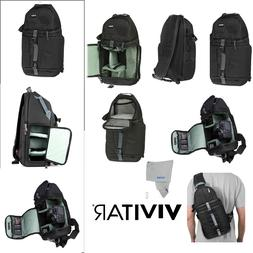 Camera Sling Backpack Bag for Canon Nikon Sony DSLR Mirrorle
