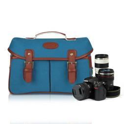 Camera Bag Soft Cowhide Leather DSLR SLR Messenger Shoulder