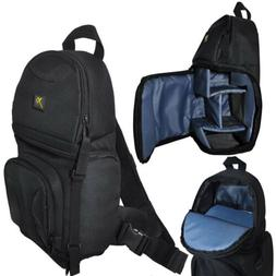Photo Camera Sling Backpack Bag for DSLR Cameras Canon Nikon