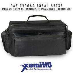 ULTIMAXX Extra Large Soft Padded Camcorder Equipment Bag Cas