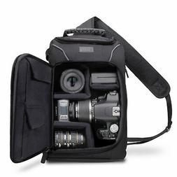 USA Gear Camera Sling Backpack Case with Adjustable Padded D