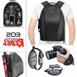 VIVITAR CAMERA BACKPACK BAG + STABILIZING GRIP FOR CANON EOS