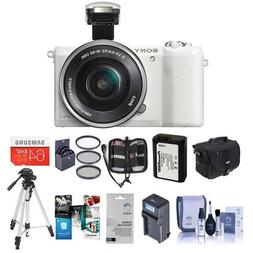 Sony Alpha A5100 Mirrorless Digital Camera, White with 16-50