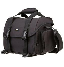 Amazon Basics Large DSLR Camera Gadget Bag - Black And Orang