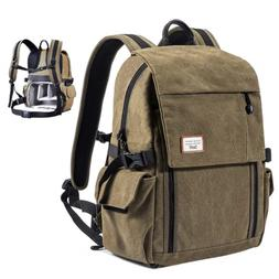 Zecti Camera Backpack Waterproof Canvas DSLR Camera Bag  For