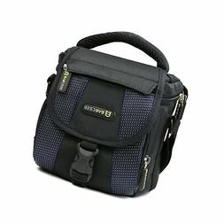 Evecase Small Camera Shoulder Bag, Travel Compact Padded Cro