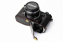 Bottom Opening Version Protective PU Leather Half Camera Cas
