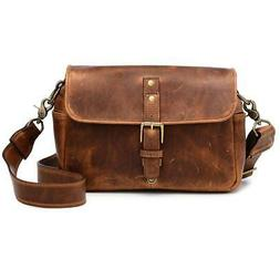 ONA The Bowery Camera Bag and Insert, Antique Cognac Leather