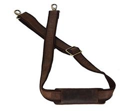 LEATHER ADJUSTABLE PADDED REPLACEMENT SHOULDER STRAP WITH ME