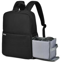 "CADeN Camera Bag Backpack Case with 14"" Laptop Compartmen fo"