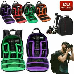 Camera Bag Backpack for Canon EOS Sony Nikon DSLR Digital Wa