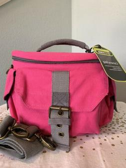 camera camera bag case bag pink grey
