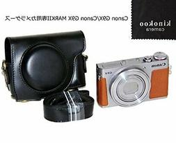 kinokoo camera case black PU leather Canon G9 X mark2 JAPAN