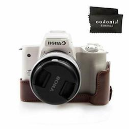 kinokoo camera case coffee body case CANON EOS Kiss M M50 ba