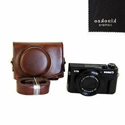kinokoo camera case coffee Canon PowerShot G7 X MarkII tripo