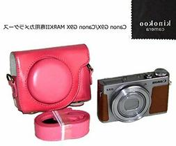 kinokoo camera case pink PU leather Canon G9 X mark2 JAPAN