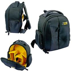 Camera Lens Black Compact Small Photography Padded Backpack