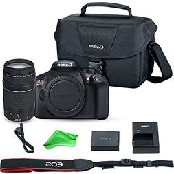 Canon EOS Rebel T6 Digital SLR Camera with EF 75-300mm f/4-5