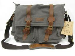 Kattee Canvas and Cow Leather Vintage DSLR SLR Camera Should