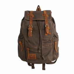 Canvas DSLR Camera Backpack Rucksack Bag Vintage Travel Hiki