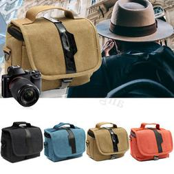 Canvas Micro-DSLR Camera Single Shoulder Bag Protective Carr