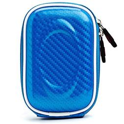 Carbon Fiber Light Blue Carrying Case for Canon Power-Shot A