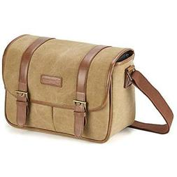 Classic Camera Cases Bag, Evecase Large Canvas Messenger SLR