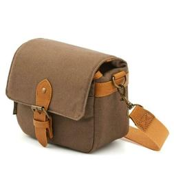 Compact SLR Camera Shoulder Bag Evecase Small Canvas Pouch C