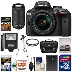 Nikon D3400 Digital SLR Camera & 18-55mm VR & 70-300mm DX AF
