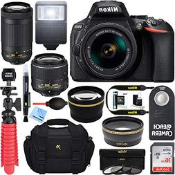 Nikon D5600 24.2MP DSLR Camera with 18-55mm VR and 70-300mm