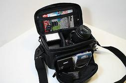 Deluxe Leather Digital Camera Bag For Nikon & Canon Cameras.
