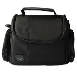 Deluxe Medium Black Camera Bag Case for Canon SLR T2i T3i T4