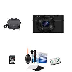 Sony DSC-RX100/B 20.2 MP Exmor CMOS Sensor Digital Camera +