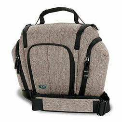 USA GEAR DSLR Camera Bag Sling  with Weather Resistant Botto