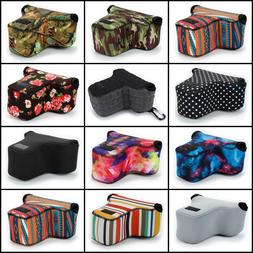 DSLR Camera Bag Travel Case Sleeve Lens Cover Belt Loop Padd