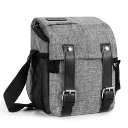 DSLR Camera Messenger Bag Water Repellent Crossbody Strap fo