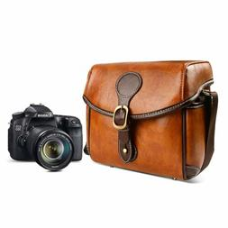 DSLR Vintage Camera Bag Shoulder Bag Satchel Small Handbag M