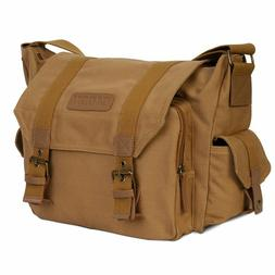 Durable Canvas Camera Bag Shockproof Shoulder Messenger for