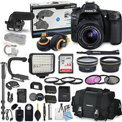 Canon EOS 80D DSLR Camera Bundle with Canon EF-S 18-55mm f/3
