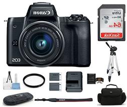 Canon EOS M50 Mirrorless Digital Camera with 15-45mm Lens -B