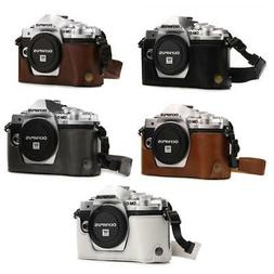 """MegaGear """"Ever Ready"""" Leather Camera Case for Olympus OM-D E"""
