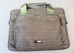 Evecase Fabric Laptop Messenger Bag With Handles HD3 Gray/Gr