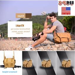 Fashion Men Women Vintage Canvas Camera Bag Shoulder Messeng