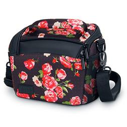 Bridge Camera Bag Floral w/Protective Neoprene Material, Rai